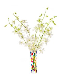 Murano Bud Vase with Orchids