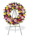 Wreath on Easel
