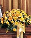 All-Yellow Casket Spray