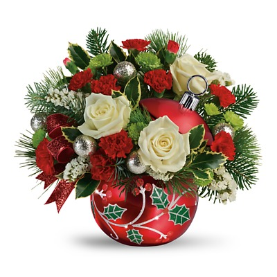 Same Day Flower Delivery - Classic Holly Ornament