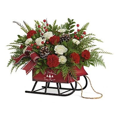 Same Day Flower Delivery - Sleigh Bouquet