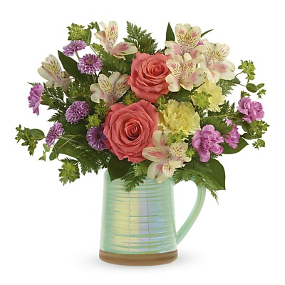 Same Day Flower Delivery - Spring Pitcher Bouquet