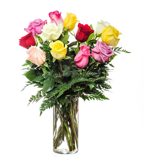 Dozen Assorted Color Medium Roses