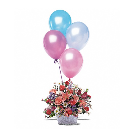 Balloon and Flower Basket