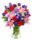 Stargazers and Roses Bouquet