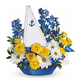 Ahoy Its A Boy Bouquet